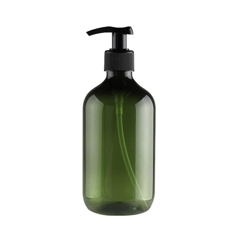 500 мл бутылка для многоразового использования Пресс насос шампунь мыло жидкая Косметика дозатор жидкости - Цвет: Dark Green