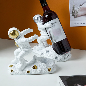 Classic cartoon people home living room decoration wine rack kitchen bottle storage holder