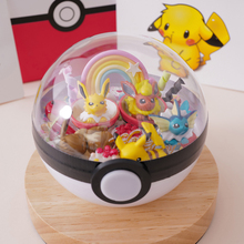цена на Pokemon RC LED Pokeball pokebolas Pocket Monster Handcraft Model Christmas Birthday Gift PVC Action Figure Toy For Kid 10cm