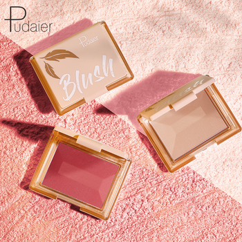 Pudaier Soft Blusher 9 Colors Matte Airy Monochrome Blush Palette Delicate Smooth Enhance Complexion Shimmer Rouge Blush TSLM1 power look diorskin rouge blush
