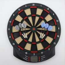 15 Inch Electronic Darts Board Set LCD Display Automatic Score Dart Plate Scoring Board With Voice 27 Games With 6pc Soft Darts