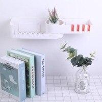 Seamless Rotating Tripod Seamlessly Bathroom Shelf Corner Bath Storage Holder Rack Bathroom Supplies Oothpaste Storage|Storage Shelves & Racks| |  -