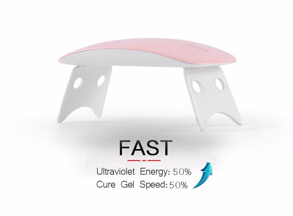 УФ-лампа для маникюра светодиодный Сушилка для ногтей лампа солнцезащитный свет отверждение всех гель-лаков Сушка УФ-гель USB умный выбор времени инструменты для дизайна ногтей LASTAR6 - Цвет: Mini