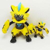 60cm 1.2kg Hot Toy Big Size Zeraora Plush Eevee Toy for Baby Toy Kids Ex Gx Mega Doll