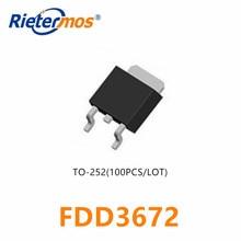 100PCS FDD3672 TO252 3672 SMD באיכות גבוהה