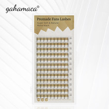 GAHAMACA 2D/3D/4D/5D/6D Russian Premade Volume Eyelashes Extension Short Stem Pre made Fans C/D Curl Mink Individual Lash