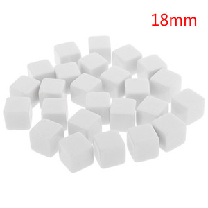 6Pcs/set 2019 Hot Glossy Dice Teaching Blank Dice Light Plate Can Be Screen Printing DIY Dice Square Angle 12mm 14mm 18mm(China)
