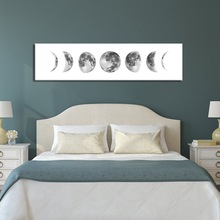 Moon Phase Black White Poster Canvas Art Prints Nordic Wall Art Abstract Painting Wall Picture for Living Room Modern Home Decor wall art canvas painting classical famous abstract picture home decor nordic print black white poster painting for living room