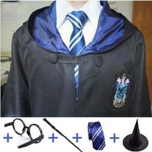 Ravenclaw Potter Cosplay Costumes Robe Cape Magic Cloak Gryffindor Slytherin Hufflepuff Kids Adults Clothing Gift