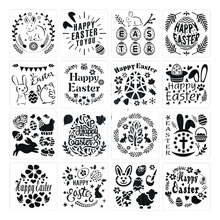 16 Pack Easter Painting and Drawing Stencils Templates Plastic Crafts for Kids