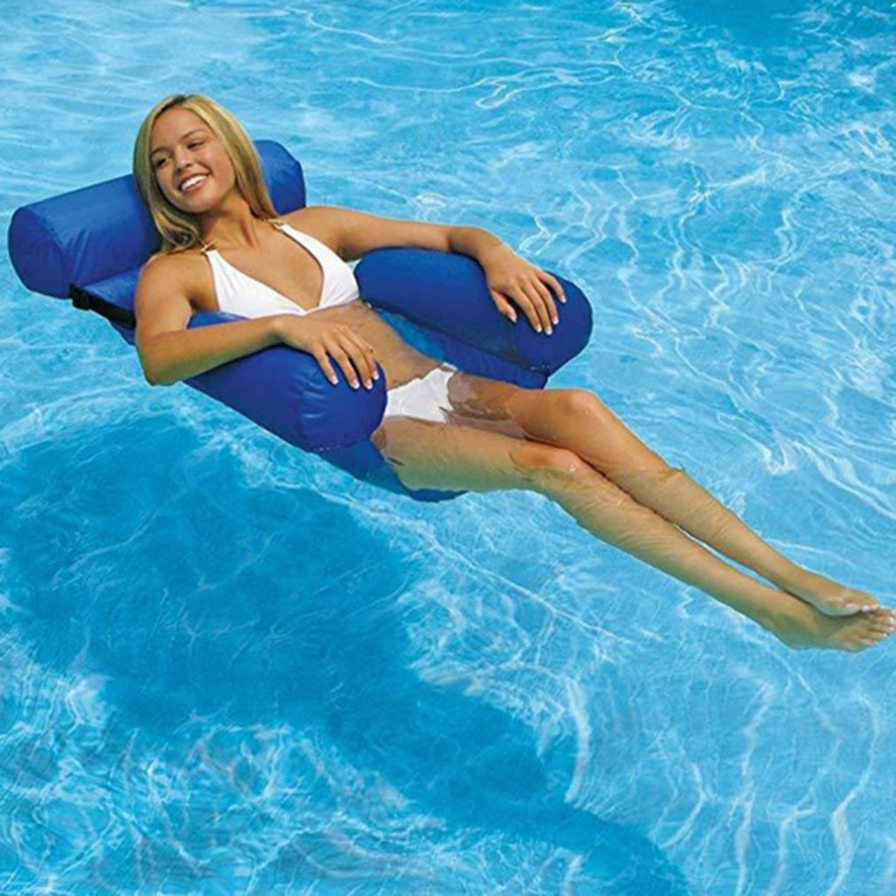 Outdoor Folding Water hammock Recliner Inflatable Floating Swimming Mattress Sea Floating Chair Lounge Chair For Pool Party 4