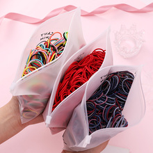 100 unids/set bolsa empaquetada niñas lindas bandas elásticas de pelo de colores goma para coleta titular Scrunchie diadema accesorios de moda para el cabello