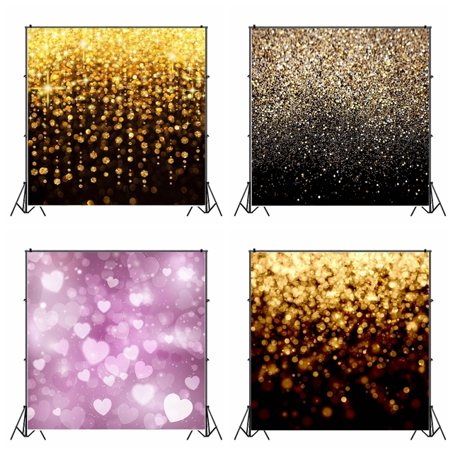 Laeacco Glitters Light Bokeh Sequins Photography Backgrounds Birthday Party Decor Backdrops Wedding Photophone For Photo Studio