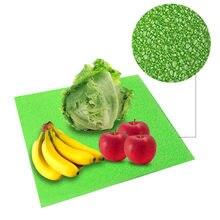 4 pçs almofadas de geladeira espuma geladeira frutas legumes frescos esteiras 382x255x3mm gaveta casa à prova ddustágua almofada antifouling