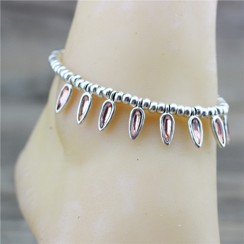 Anslow 2020 Fashion Summer Beach Foot Jewelry Coffee Beans Rope Anklets For Female Lady Friendship Couple Love Gift LOW0003AA