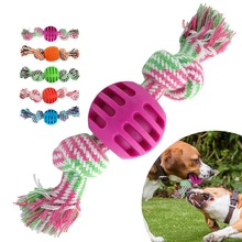 Dog-Rope-Toy Pet-Supplies Puppy-Teething-Toy Pet-Interactive Knot-Design Bite-Resistant