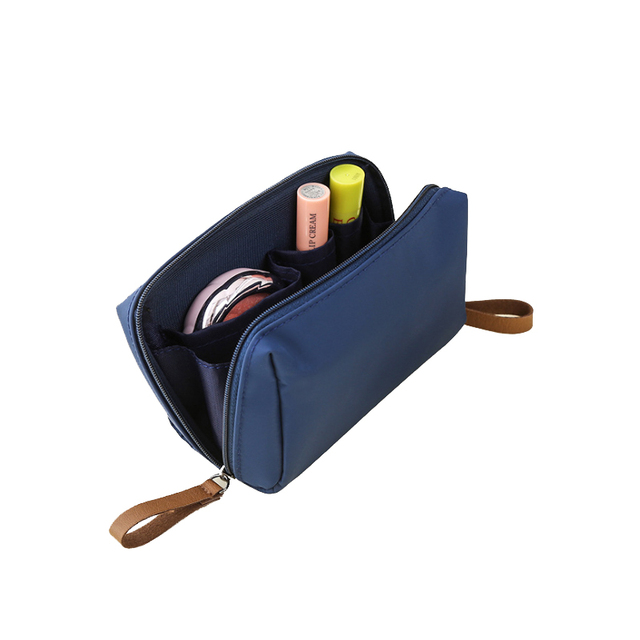 PURDORED 1 pc Solid Cosmetic Bag Korean Style Women Makeup Bag Pouch Toiletry Bag Waterproof Makeup Organizer Case necessaire 3