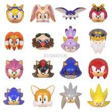 Figuras de acción de Super Serie, juguetes de regalo para niños de Anime de Sonicing Blocks, Shadow Knuckles, Snow World, Animal Hedgehog(China)