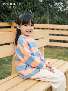 Image 4 - KC.Child 2020SS Latest Childrens T shirt Kids Striped  Long Sleeve Loose T shirt Babys soft T shirt Casual Style Age 2 13Y