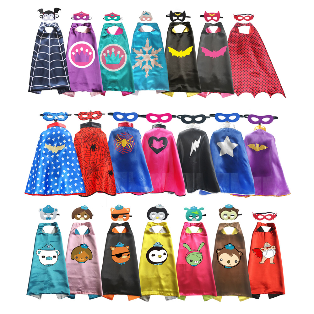 Superhero Capes For Boys Girls Birthday Party Favor Dress Up Halloween Costumes Anime Cosplay