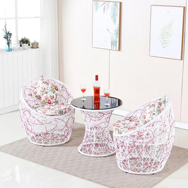 Rattan Patio Conversation Furniture Set  5