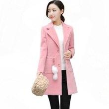 2019 Fashion Long Slim Blend Outerwear Women Overcoat Wool Coat Autumn Winter Jacket Clothes Winter Female Long Sleeve Jacket