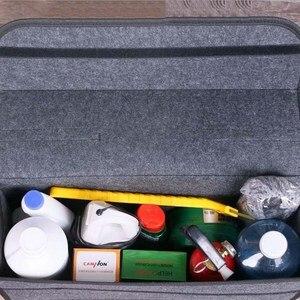 Image 3 - Auto Trunk Organizer Auto Lagerung Tasche Fracht Container Box Feuerfeste Verstauen Aufräumen Halter Multi Tasche Auto Styling 50*17*24cm
