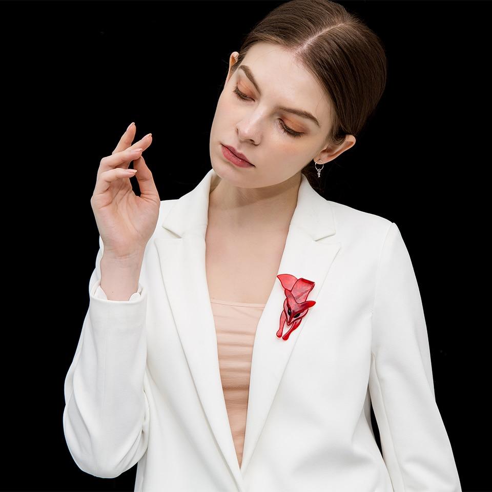Funmor-Red-Acrylic-Fox-Women-Brooches-Backpack-Shirt-Decoration-Handmade-Acetate-Fiber-Animal-Pin-Environmental-Brooch (3)