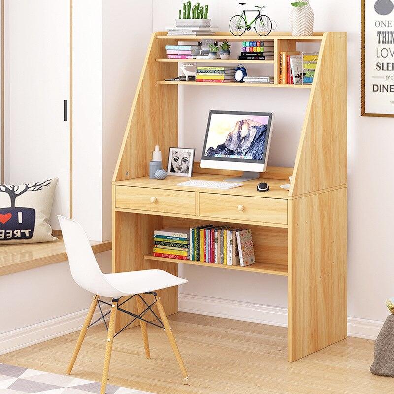 On Behalf Of Desktop Desk Household Province Space Student Desk Bookshelf Combination Modern Minimalist Bookshelf One-piece Tabl