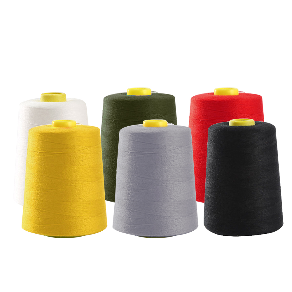 Red DIY Industrial 8000 Yard Machine Quilting Serger Sewing Thread Cones All Purpose Polyester Textile Home Heavy Duty Huge Spools