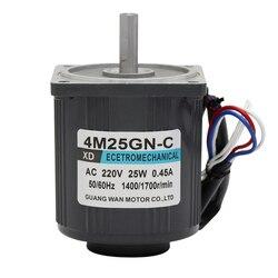 220V AC moteur à grande vitesse 1350 à 2800 à Micro électrique Machine 25W Induction contrôle de vitesse petit moteur