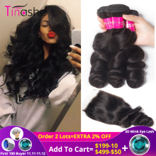 Tinashe Hair Bundles Closure Brazilian with Remy
