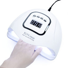 Quick drying SUN X5MAX LED Lamp For Nail Lamp 80W Nail Dryer ALL Gel Polish With Bottom Timer LCD Display Nail Oven Gel UV Lamp