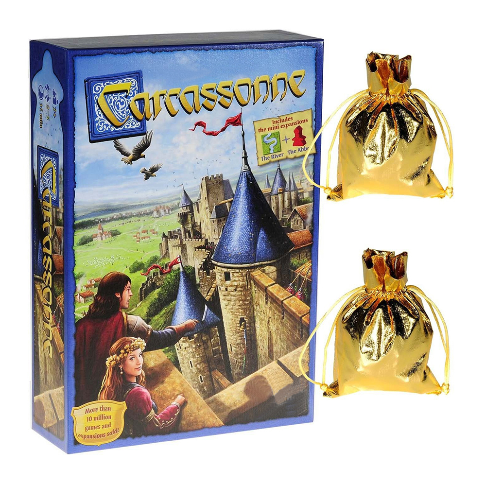Carcassonne Board Game English Standard Edition 2-5 Players 35 Mintues