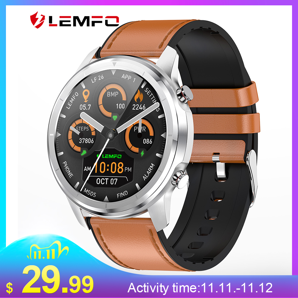 LEMFO LF26 1 3 Inch Full Touch 360 360 HD Amoled Screen Smart Watch Men Bluetooth 5 0 Weather Watch Face Smartwatch For Android