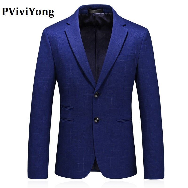 PViviYong Brand 2019 New High Quality Suit Jacket, Business Men's Top Suit, Two Single-breasted  Blazer Men Coat Plus-size S-5XL