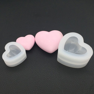 3D Love Heart Dessert Cake Silicone Mold Mousse Home Kitchen Baking Pastry Decoration Handmade Crystal Cake Candy Moulds