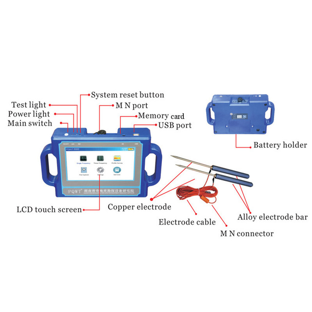 جهاز كشف المياه الأرضية PQWT عالية الكشف عن عمق البحث تحت الأرض جهاز كشف المياه 4