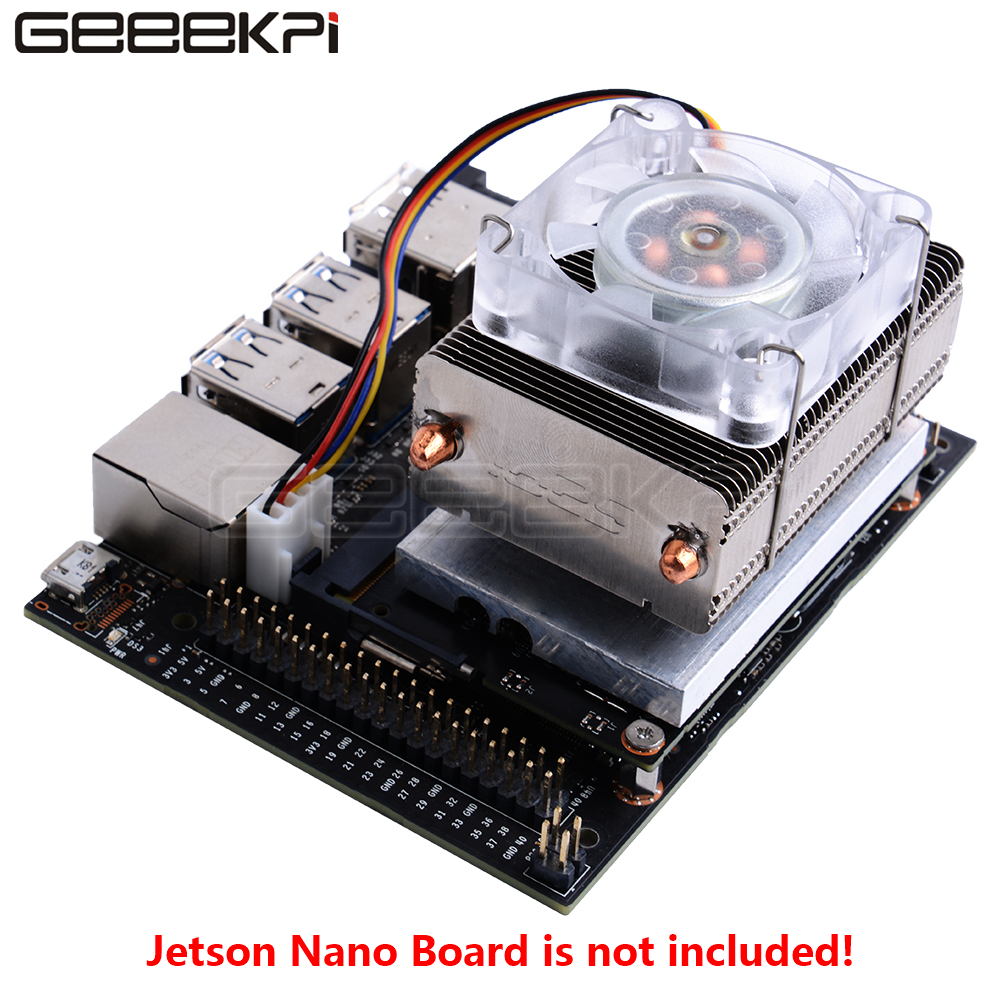 GeeekPi Ice Tower Cooling Fan Super 7 Colors RGB Changing Light For NVIDIA Jetson Nano Developer Board