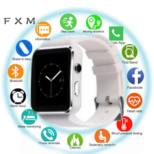 FXM New Bluetooth Smart Watch Men Sport Passometer Smartwatch With Camera Support SIM Card Whatsapp Facebook For Android Phone