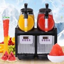Электрический мини-двойной резервуар слякоть машина 110 V/220 V Машина Для Оттаивания снега 2L* 2 коммерческих смузи машина для приготовления граниты льда слушер