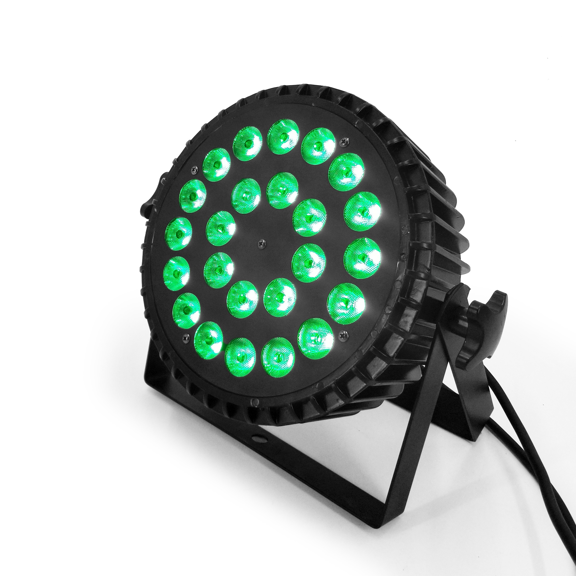 Dj Par Lights 24x18W RGBWA UV 6in1 Led Stage Light RGBW 4in1 Wash Light  Led Strobe Light Using Silent Fan Aluminum Shell