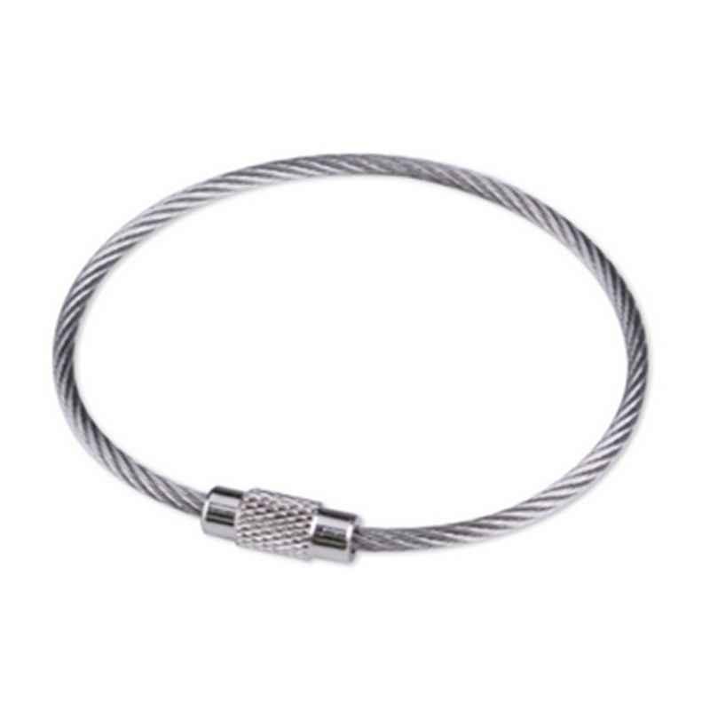 Sleutelhanger Ringen Karabijnhaak Kabel Draadaansluiting Draad Touw Voor Sleutelhangers Diy
