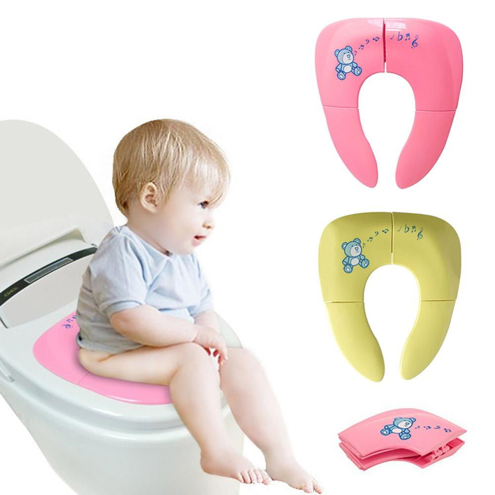 Baby Travel Folding Potty Seat Toddler Portable Toilet Training Seat Children Urinal Cushion Kids Pot Chair Pad Mat