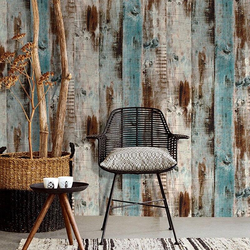 Waterproof  PVC Self Adhesive Vinyl Wood Mura Wallpaper Roll For Living Room Kitchen Kids Room Bedroom Walls