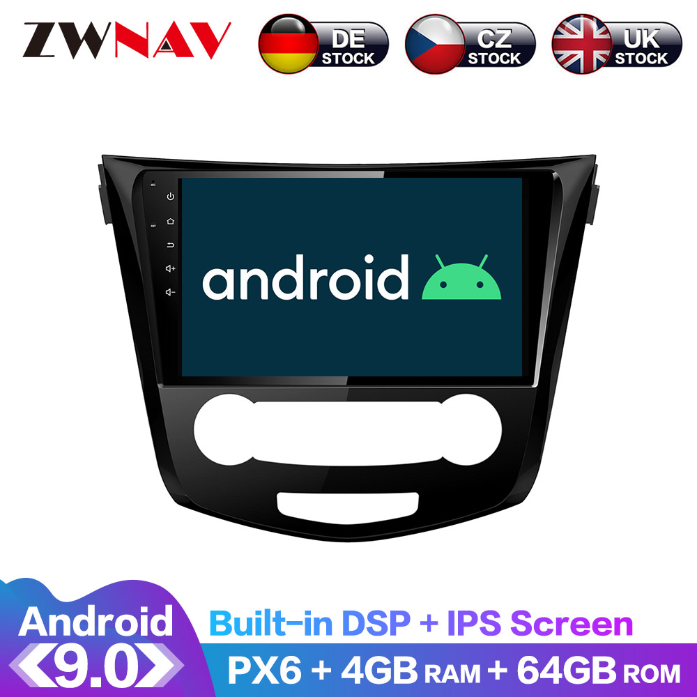 <font><b>Android</b></font> 9 IPS Screen PX6 DSP For <font><b>Nissan</b></font> X-TRAIL <font><b>Qashqai</b></font> Dualis Rouge 2013 + GPS Multimedia Player Radio Audio Support 360 view image