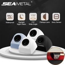 720P HD Hidden Rear View Camera Fisheye Back Up Camera 170 Degrees Wide Angle Starlight Night Vision Front/Rear Parking Assist
