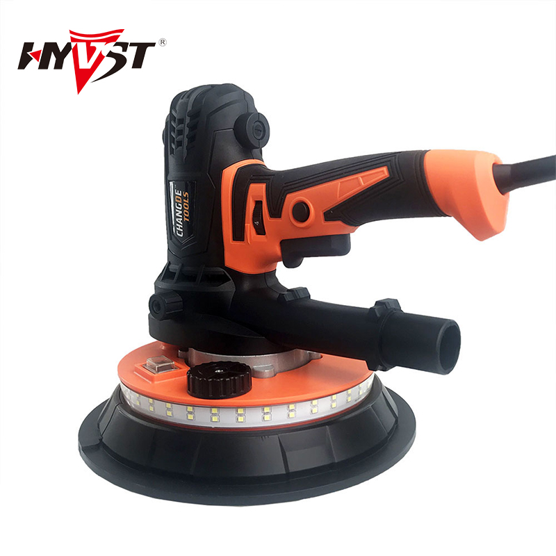 Electric Drywall Sander With LED Lights DryWall Tool Hand-held DryWall Sander Five Speed Switch