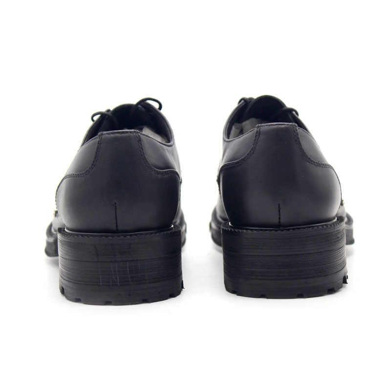 Neue Hochzeit Echtem Leder Schuhe Männer Dicken Plattform Lace Up Männer Schuhe Party Kleid Schuhe Luxus Mann Schuh Plus Größe US4.5-11.5