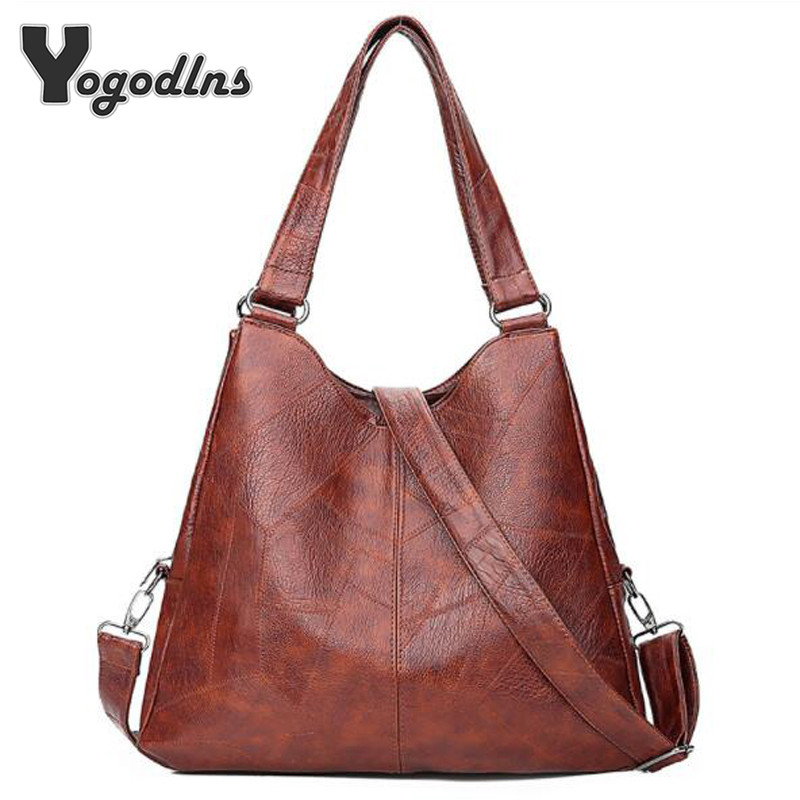 Designer Women Handbag Casual Big Totes Women PU Crossbody Bag Vintage Shoulder Bag Soft Shopping Bag